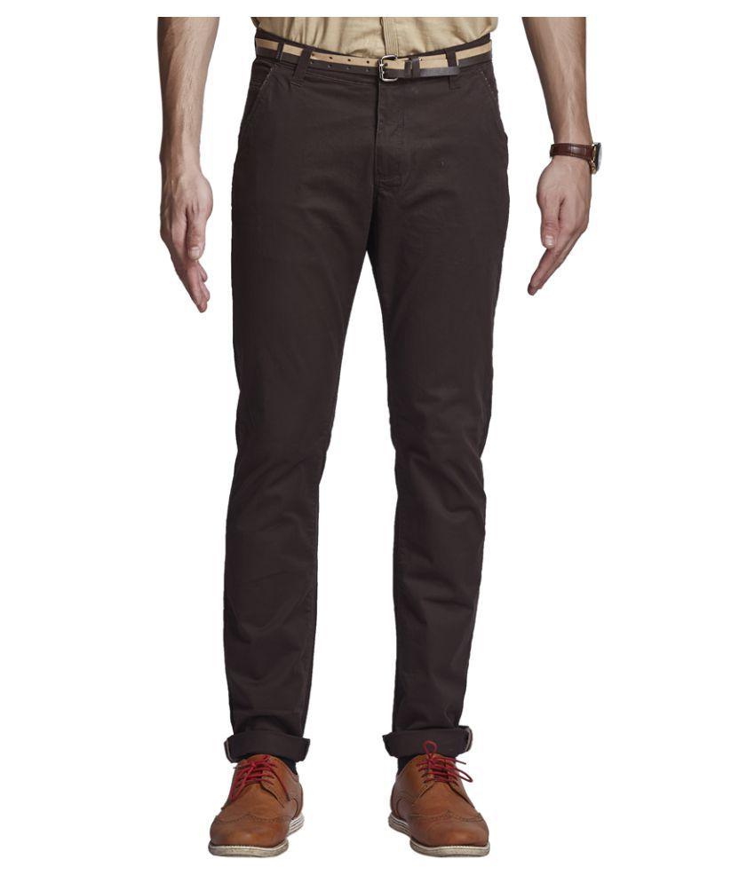 Beevee Coffee Regular Flat Trouser