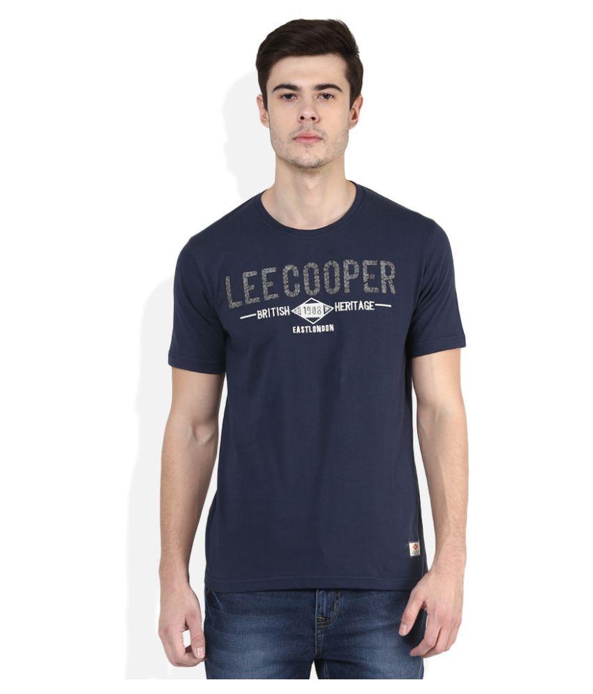 Lee Cooper Navy Round T-Shirt