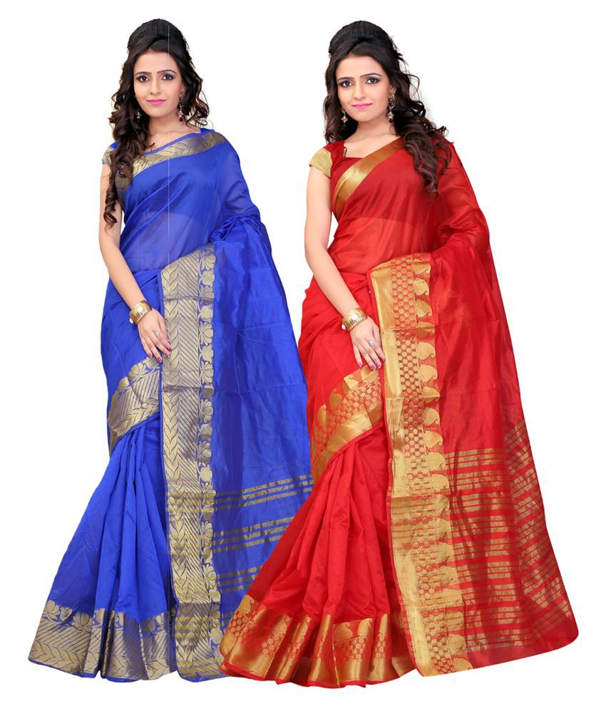 It's Bani Multicoloured Art Silk Saree Combos