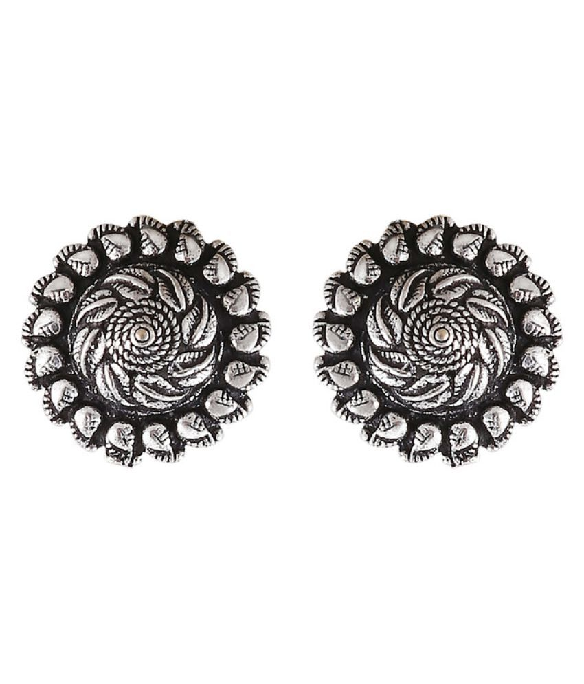 Illuminate Silver Plated Stud Plug Earring