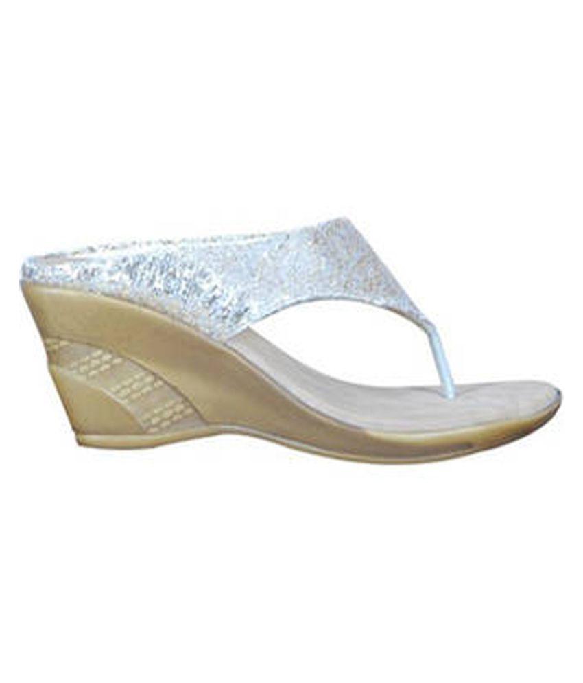 Eve Dior Silver Wedges Heels
