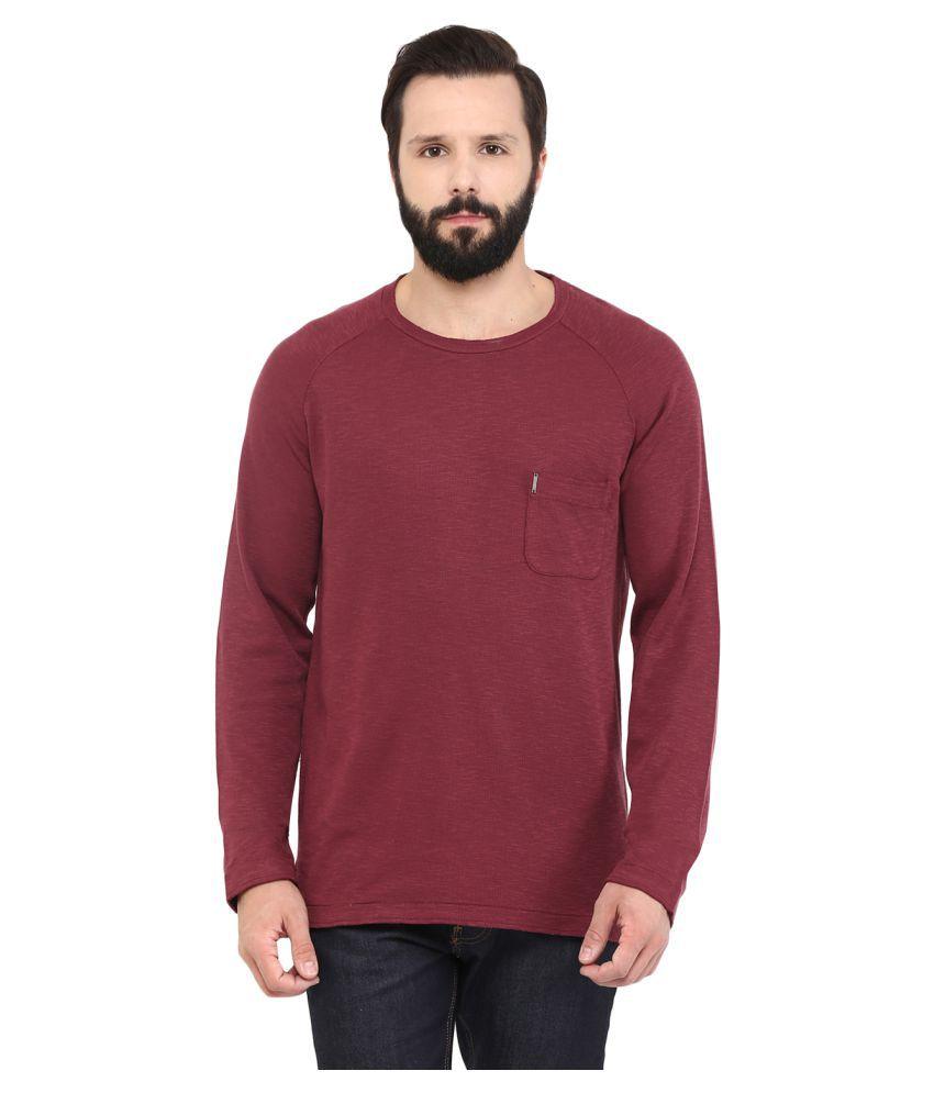 Grain Maroon Round T-Shirt