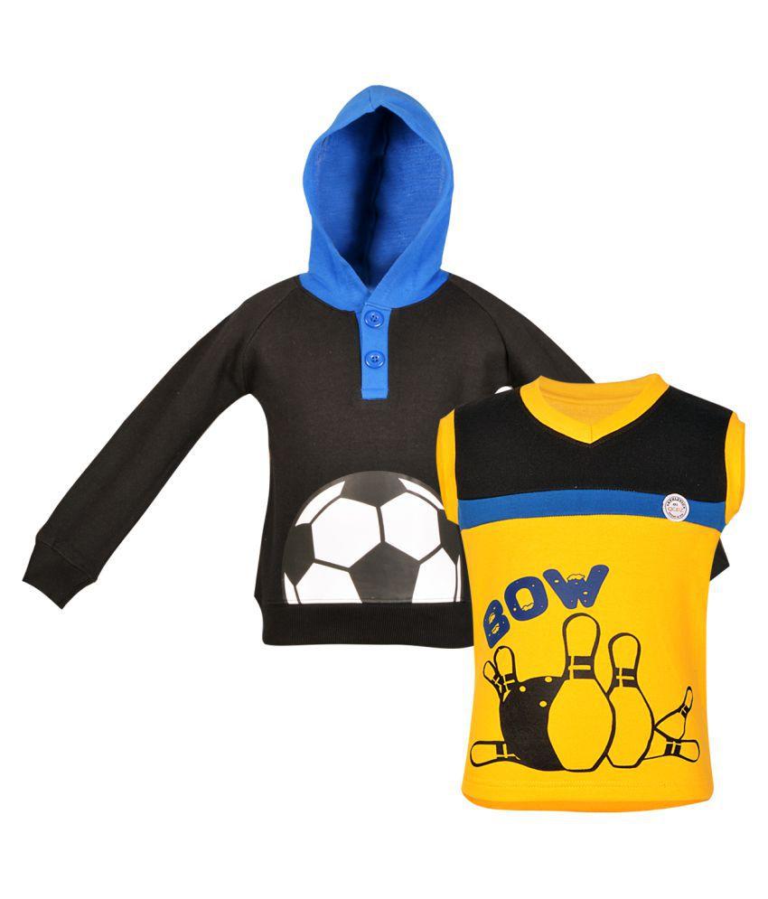 Gkidz Girls Multicolor Fleece Sweatshirt Pack of 2