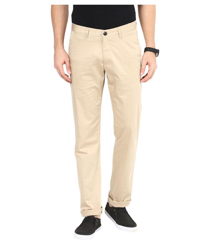 Sting Beige Slim Flat Trouser