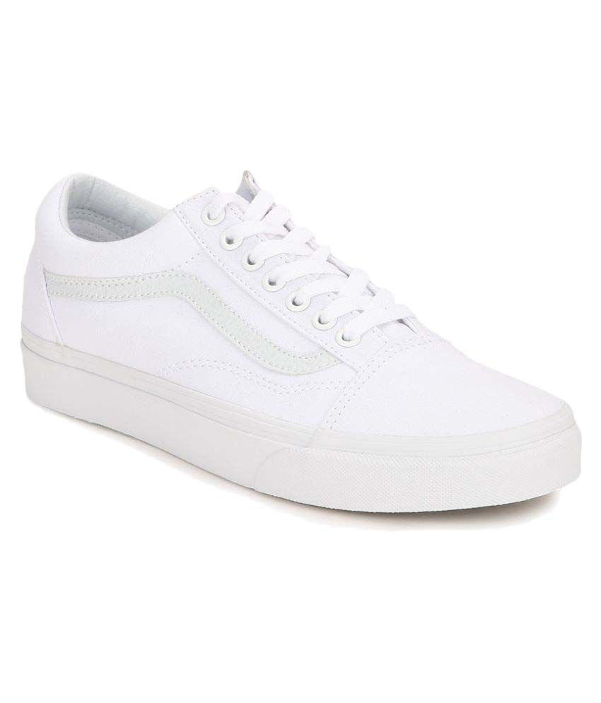 new style 360a6 6a402 Vans Old Skool Sneakers White Casual Shoes - Buy Vans Old ...
