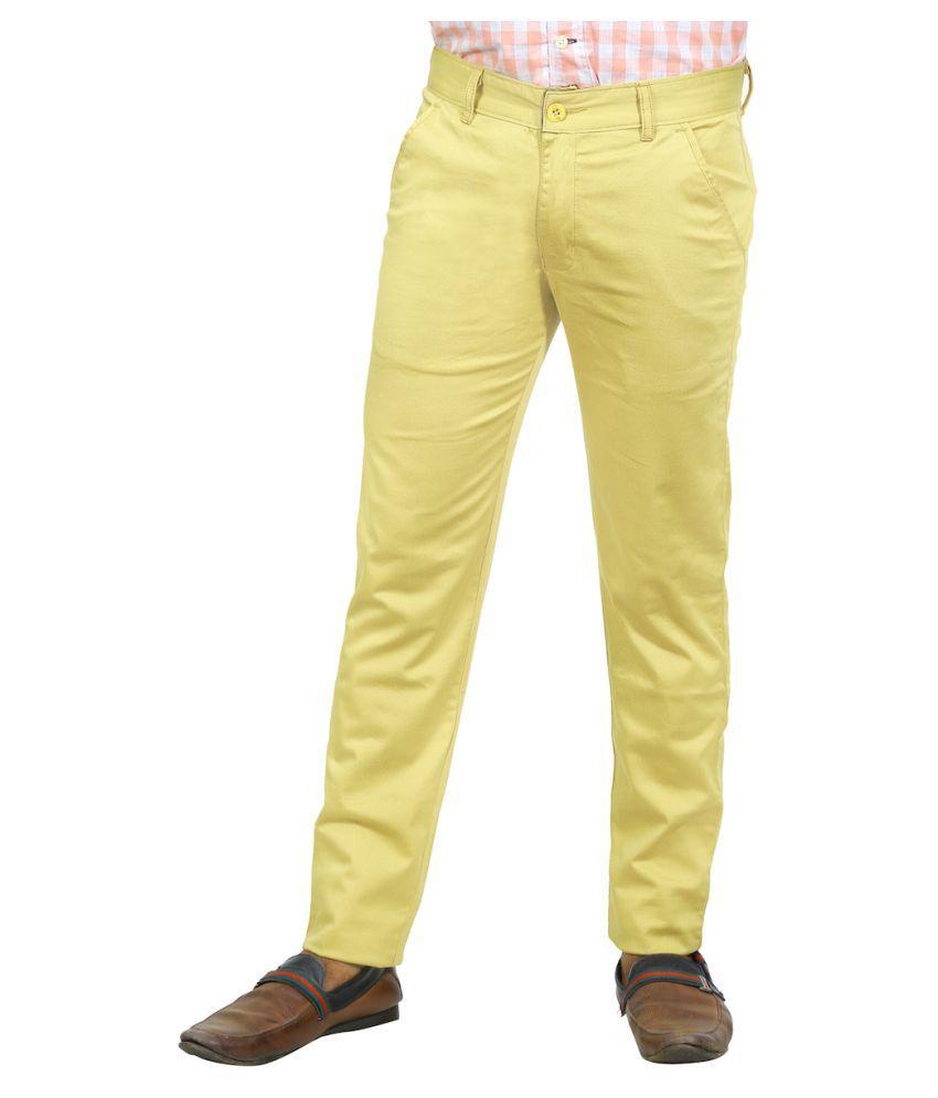 Burbn Beige Slim Flat Trouser