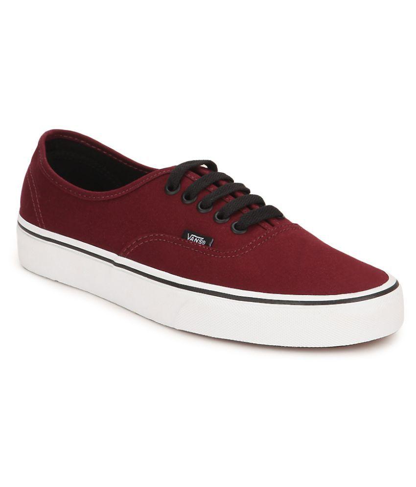 5dfe9a70b3 Vans Maroon Sneakers Price in India- Buy Vans Maroon Sneakers Online at  Snapdeal