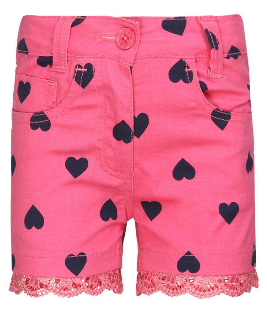 Chalk By Pantaloons Pink Cotton Shorts