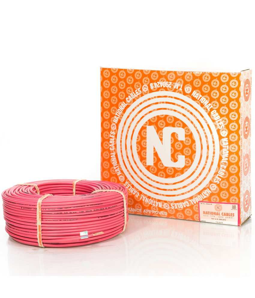Buy National Cables House Wire 1 Core 1.5 Sqmm - Assorted Color ...