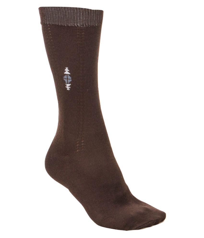 Anixa Brown Casual Full Length Socks