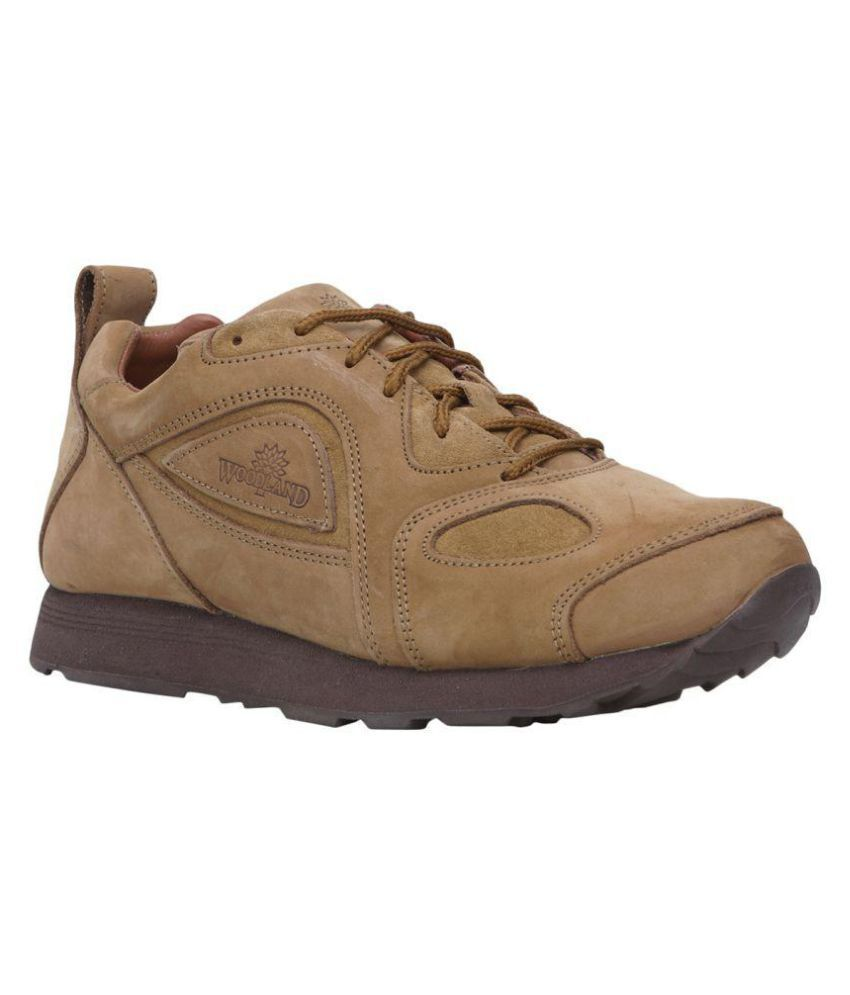 Woodland G 777y15 Camel Lifestyle Copper Casual Shoes