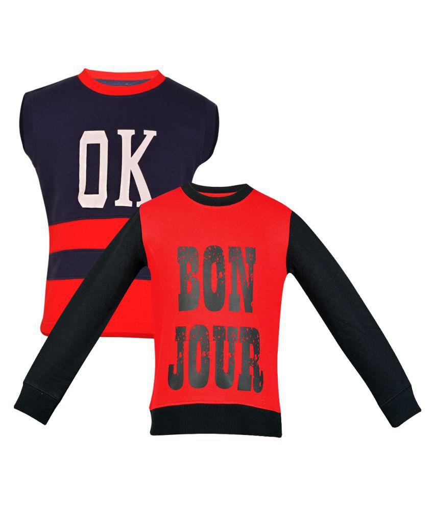 Gkidz Pack Of 2 Girls Multi Color Sweatshirt Combo.