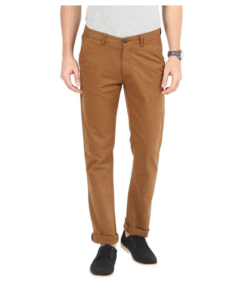 Sting Khaki Slim Flat Trouser