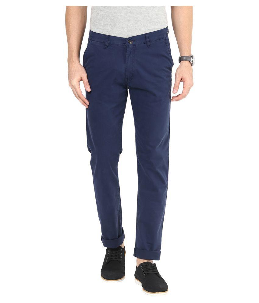Sting Blue Slim Flat Trouser