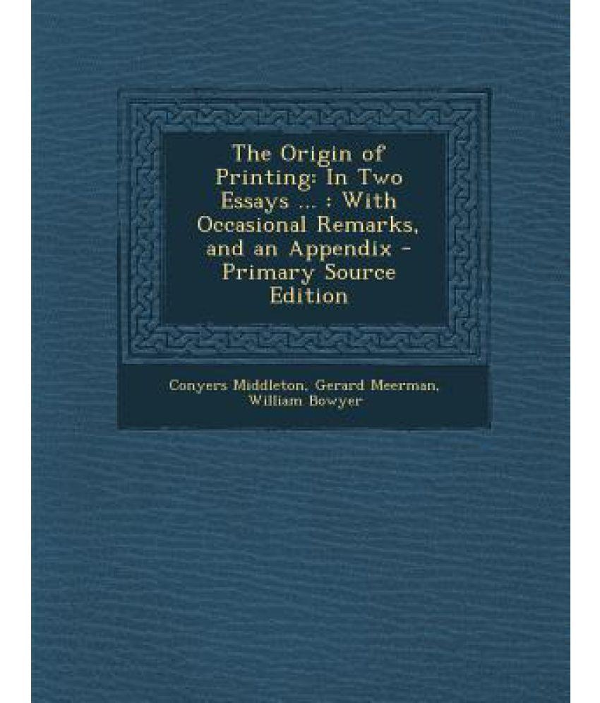 Origin essays