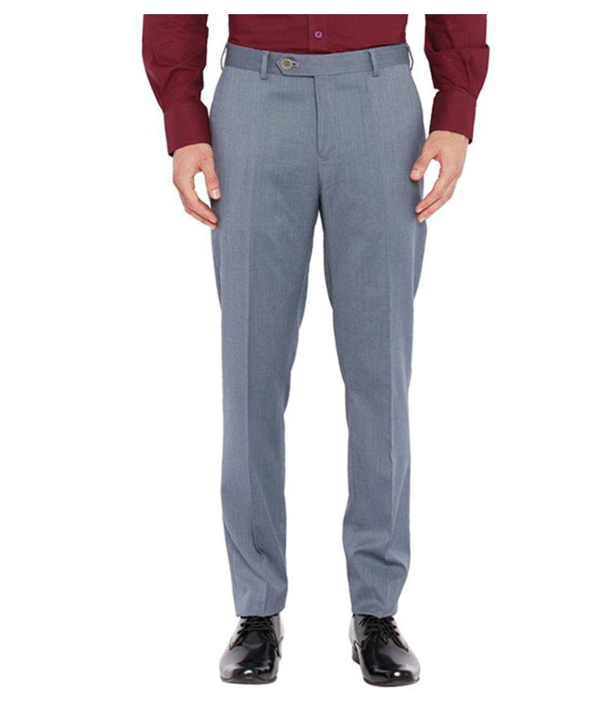 Raymond Grey Slim Flat Trouser