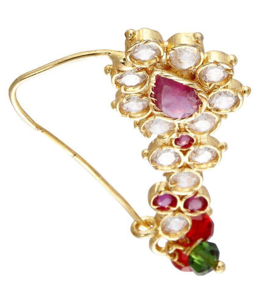Wedding Hairstyle Maharashtrian: 9blings Maharashtrian Bridal Style Cubic Zirconia Gold