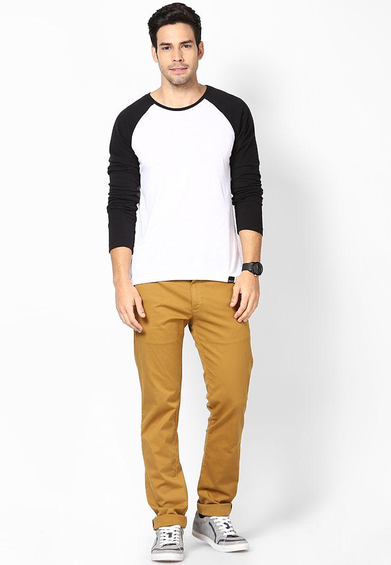 Rigo Smart White Full Sleeve T-Shirt