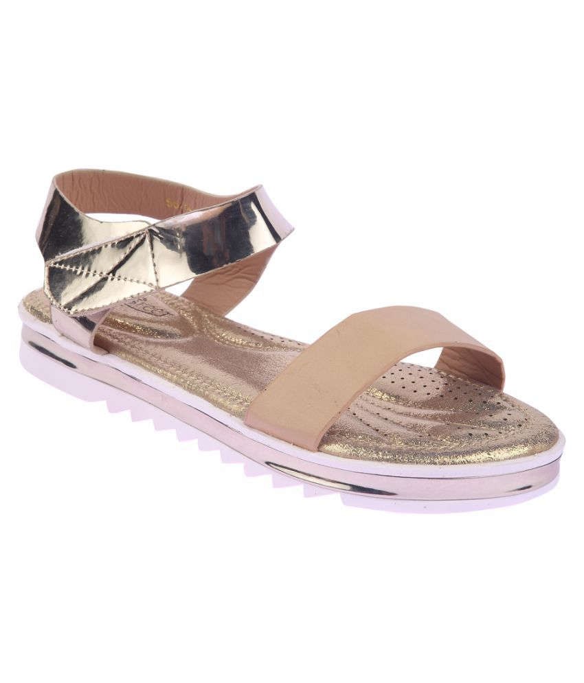 Lotus Feet Gold Flats