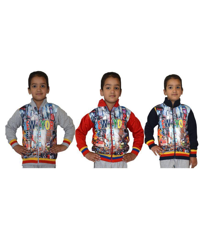Shaun Multicolor Sweatshirt - Pack of 3