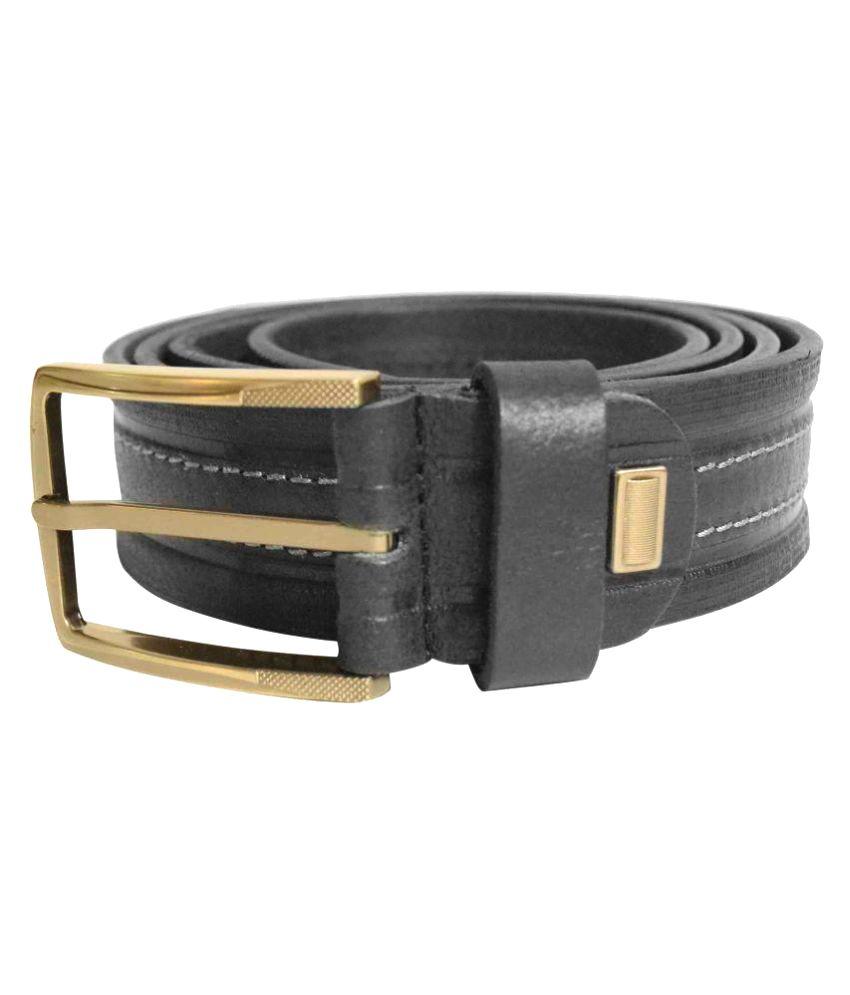 Jalad Black Leather Casual Belts