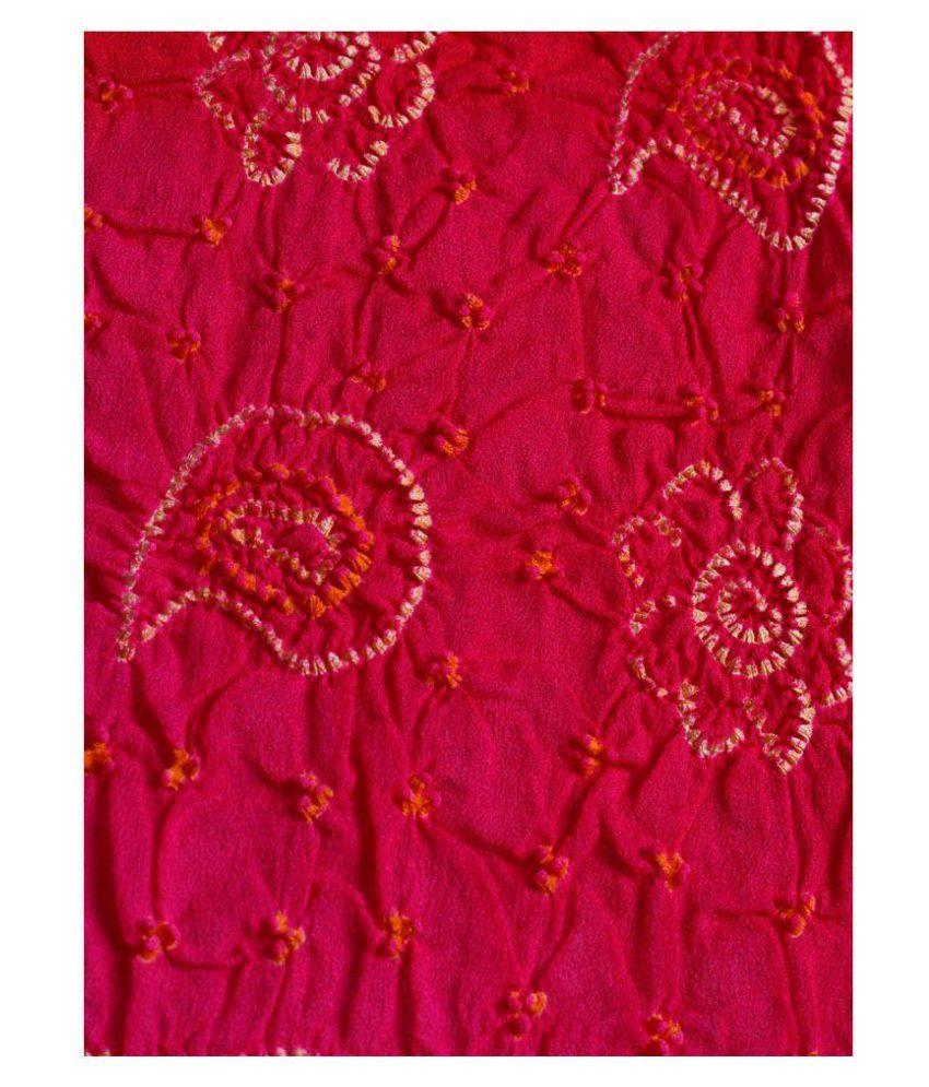 Kasturi-B Pink Bandhej Dupatta Price in India - Buy Kasturi-B Pink