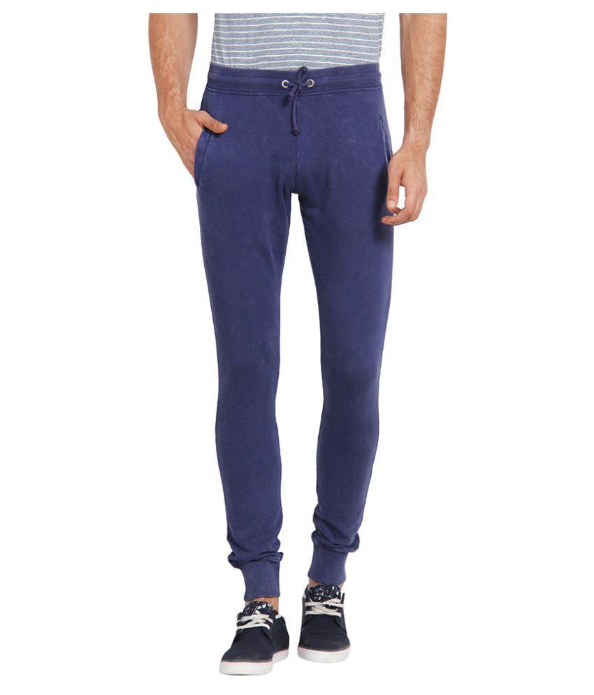 Slub Purple Regular Flat Trouser