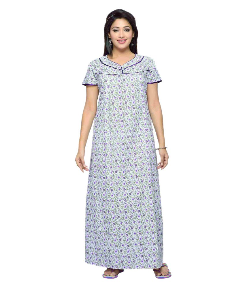 14ebb01b01f21 Buy Soulemo Cotton Nighty & Night Gowns Online at Best Prices in India -  Snapdeal