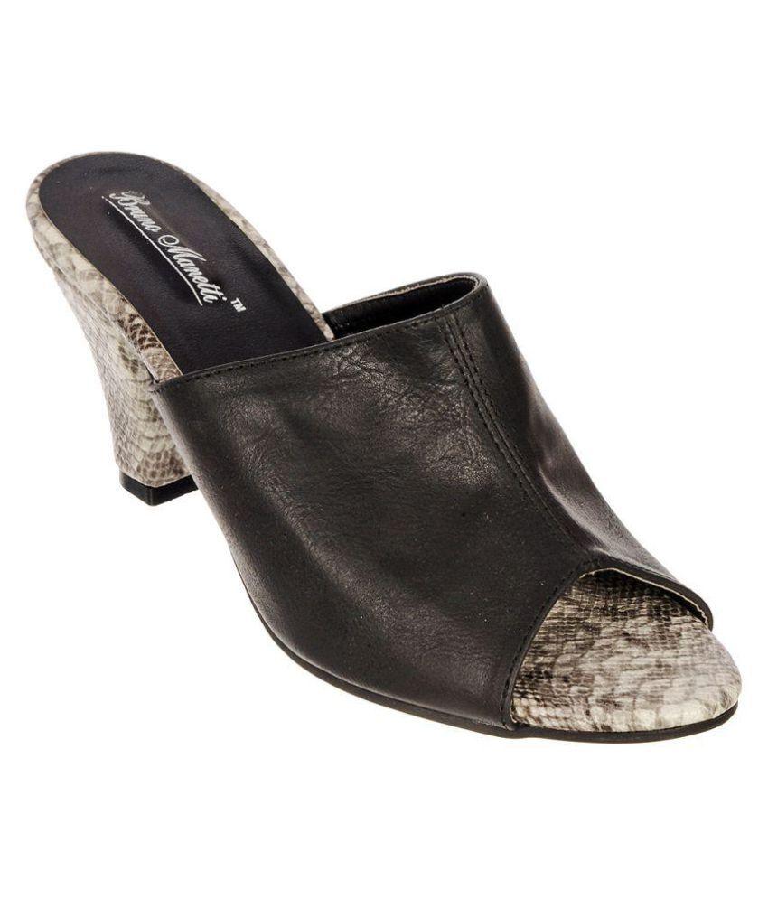 Bruno Manetti Black Heels