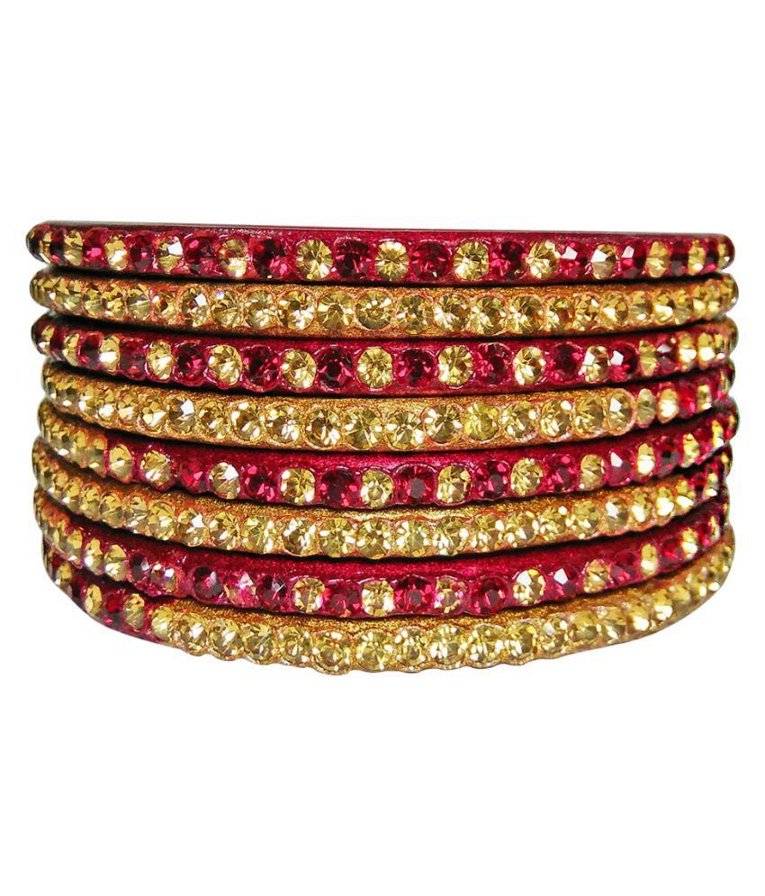 Rocks Multicolor Bangle Set of 8