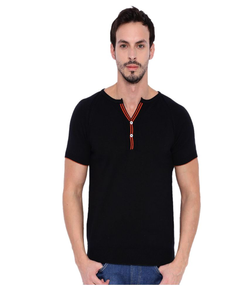 Fifty Two Black Henley T-Shirt