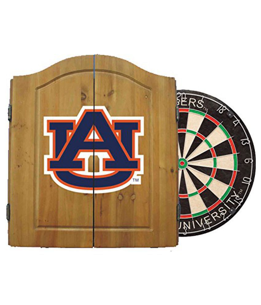 Imperial Officially Licensed NCAA Dart Cabinet Set with Steel Tip Bristle Dartboard, Auburn Tigers