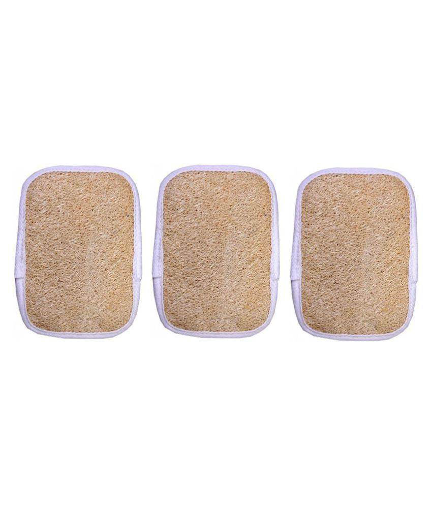 Gold Dust Natural loofah fibers Loofah Pad Yellow 3 fl oz Pack of 3