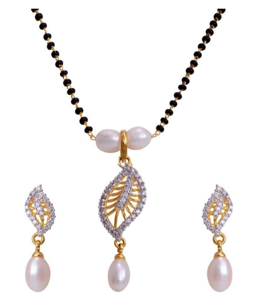 Hyderabad Jewels Beautiful Stone Studded Mangalsutra Set