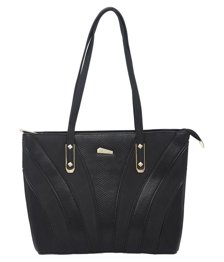 8d02d7f997 Esbeda Black P.U. Shoulder Bag - Buy Esbeda Black P.U. Shoulder Bag Online  at Best Prices in India on Snapdeal