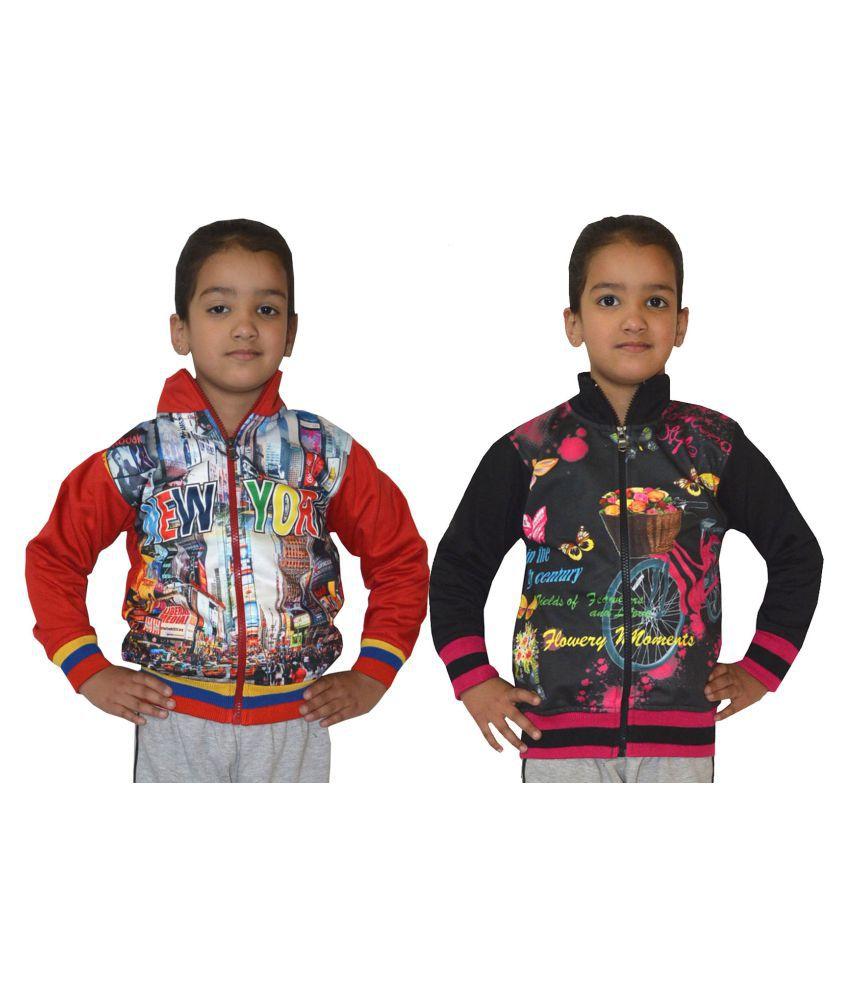 Shaun Multicolour Cotton Sweatshirt - Pack of 2
