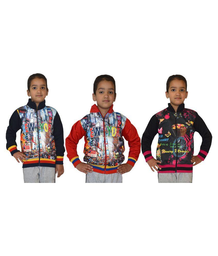 Shaun Multicolour Cotton Blend Sweatshirt - Set of 3