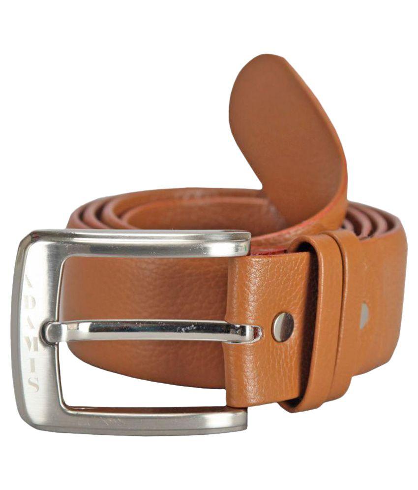 Adamis Tan Leather Formal Belts