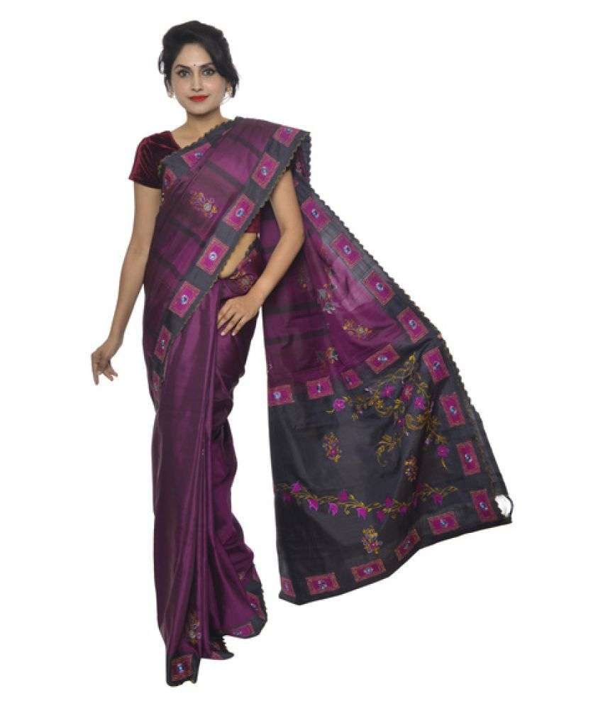 32cd5b6f3f68fa Vallalar Silks Purple Kanchipuram Saree - Buy Vallalar Silks Purple Kanchipuram  Saree Online at Low Price - Snapdeal.com