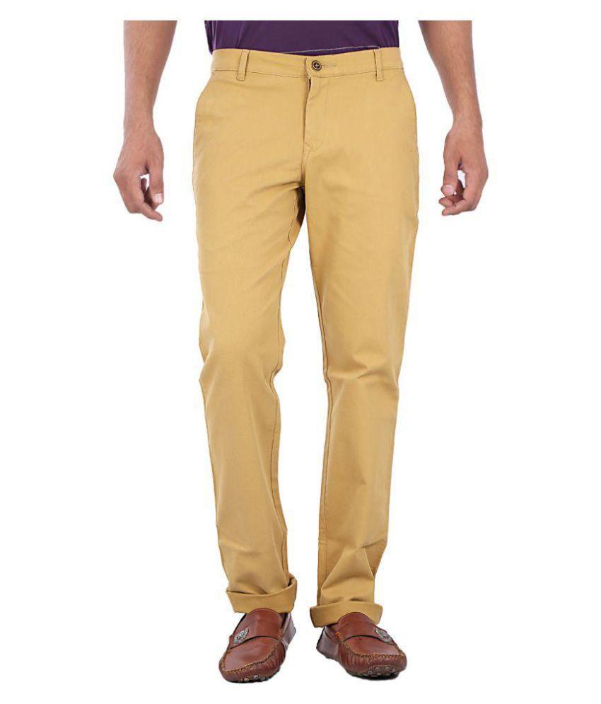 White Pelican Khaki Slim Flat Trouser