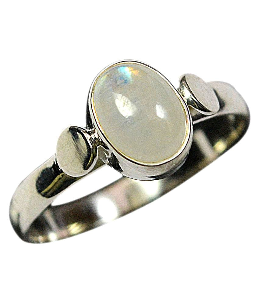 CCI 92.5 Silver Moonstone Ring