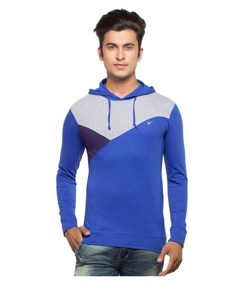 Maniac Blue Hooded T-Shirt