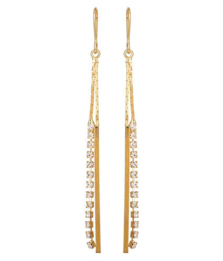 Adwitiya Fashion Golden Hanging Earrings
