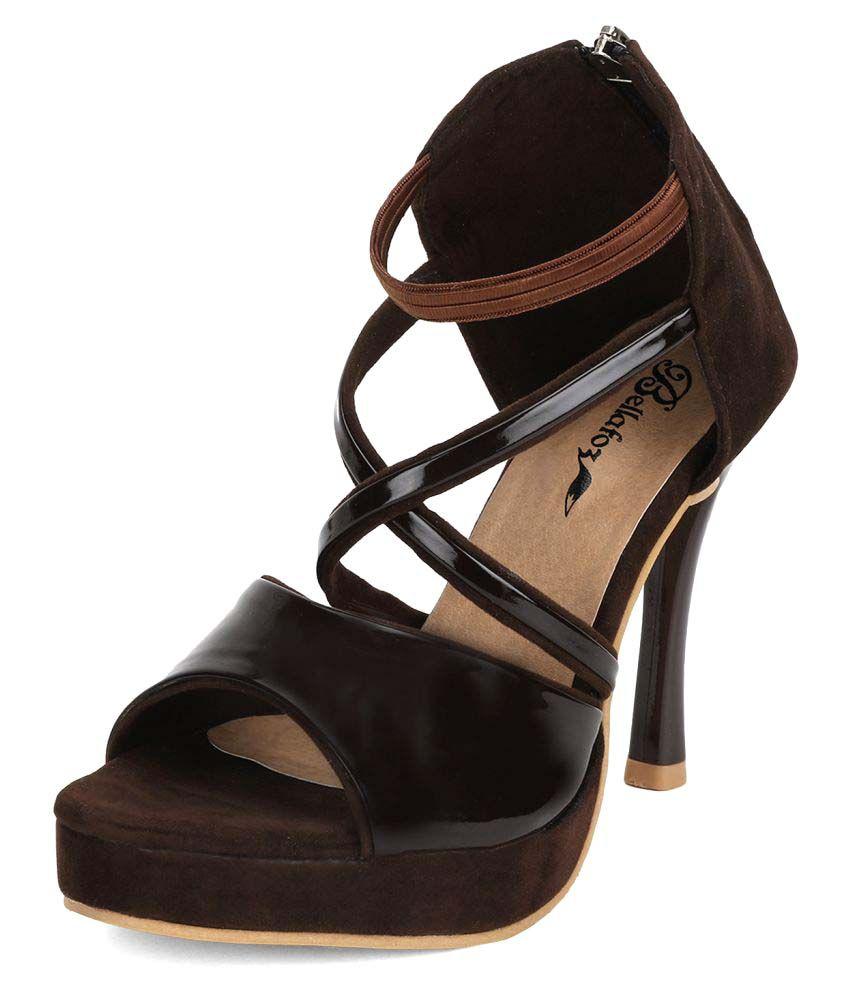 Bellafoz Brown Stiletto Heels