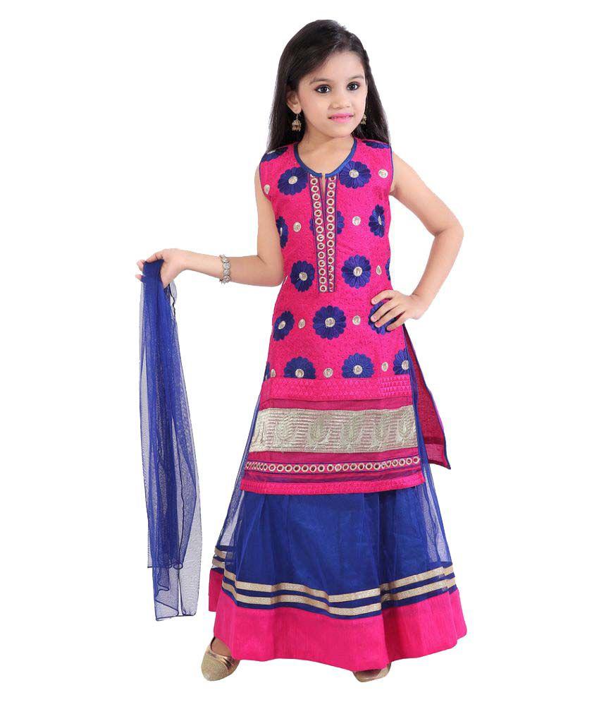 032ce1542 Jazzup Lehnga-Choli Suit With Churidar For Girls- 3 Piece - Buy ...