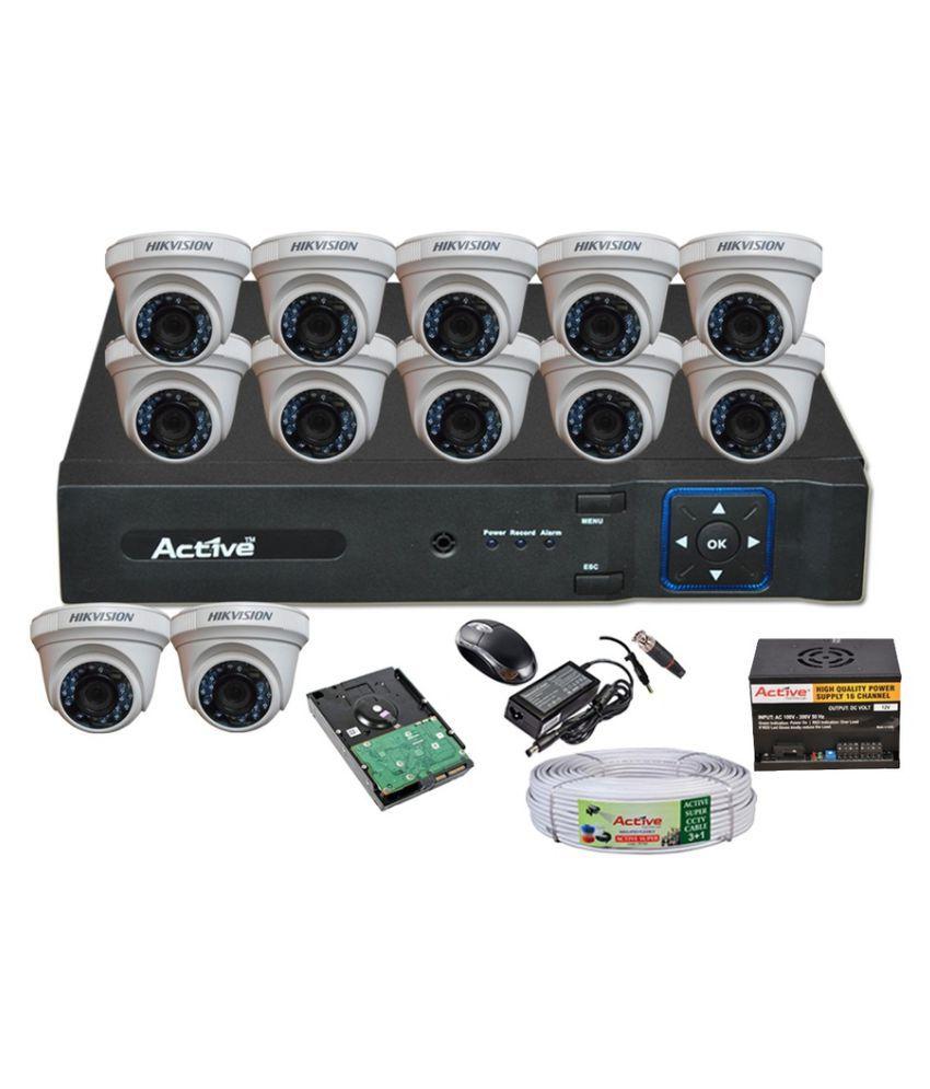 Hikvision DVR, Camera, HDD, SMPS, Adapter, Mouse, BNC, DC Surveillance Kit