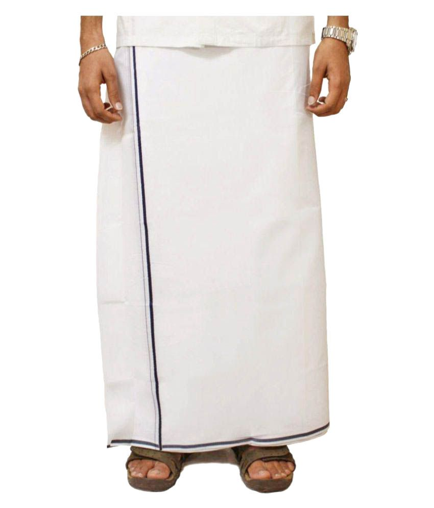 Shahji Creation White Dhoti