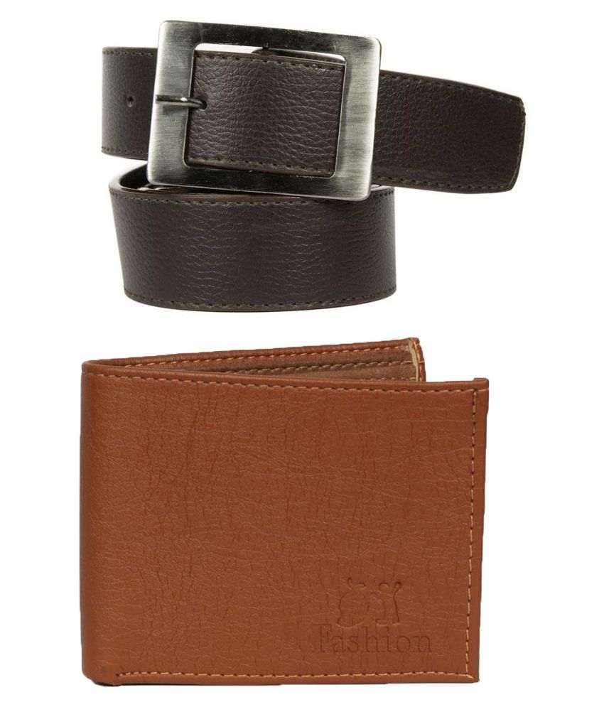 Mango People Combo of Belt and Wallet for Men