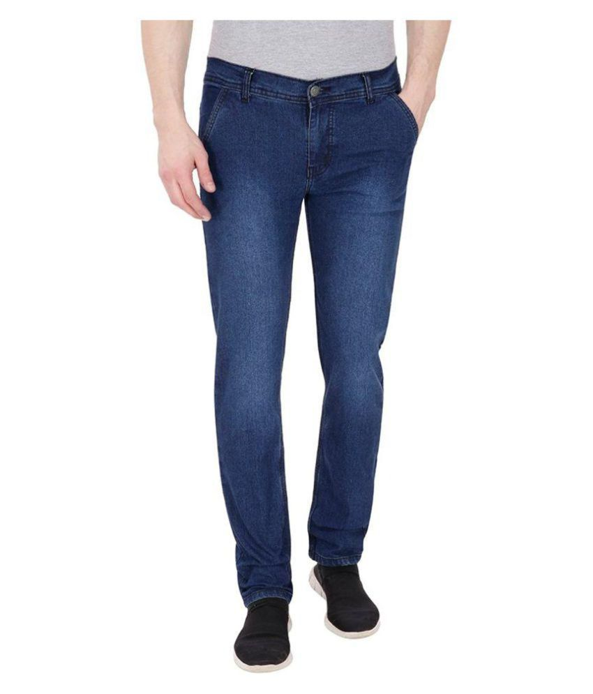 Westkon Men's Blue Slim Fit Jeans