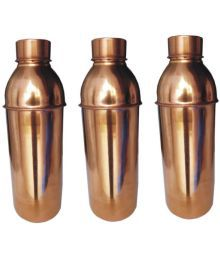 Veda Home & Lifestyle Veda Copper Bottles Brown 2250 Fridge Bottle Set Of 3